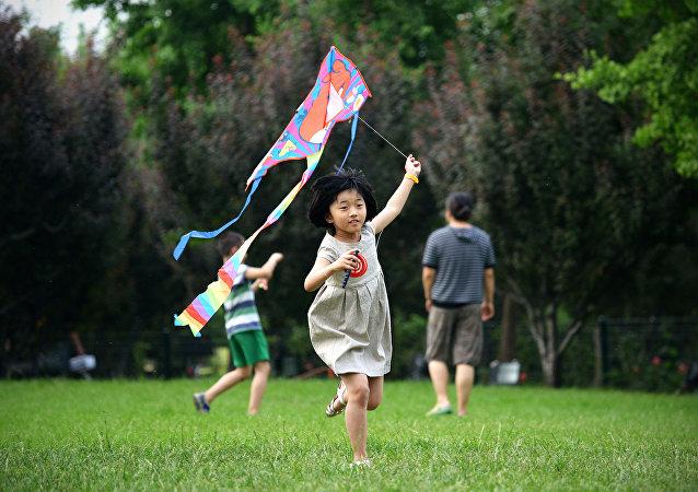 Des enfants chinois.