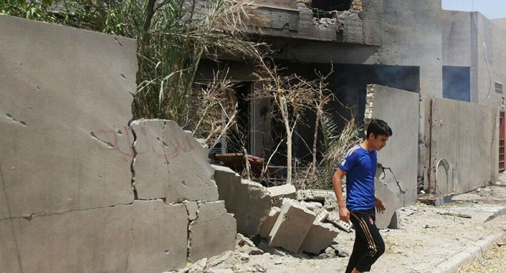 Frappe de la coalition américaine sur Fallujah, en Irak