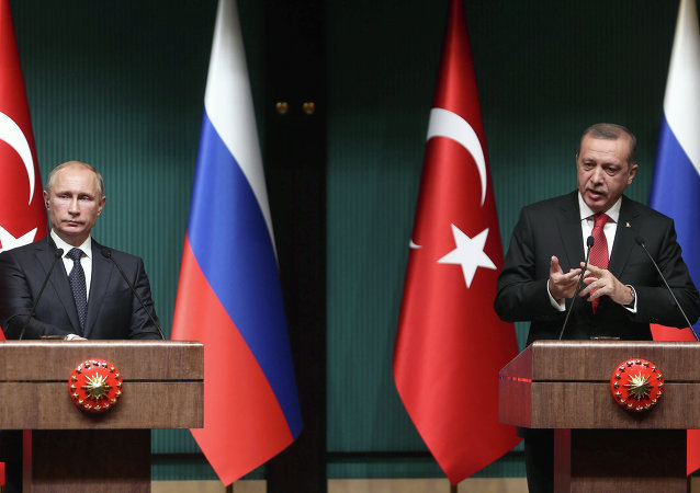 Les présidents Vladimir Poutine et Recep Tayyip Erdogan