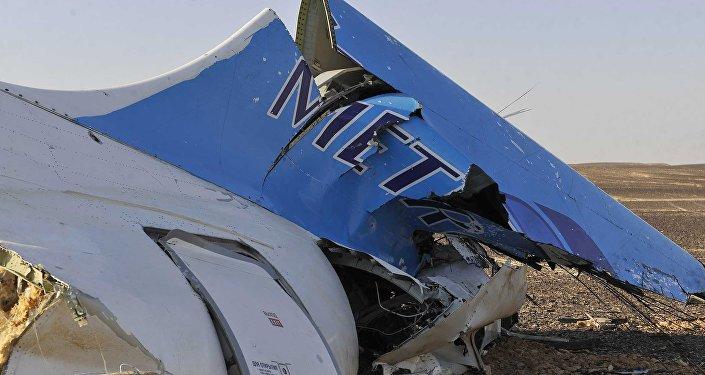 Les débris de l'Airbus A321 de Metrojet en Egypte