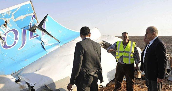 Débris de l'A321 russe dans le Sinaï