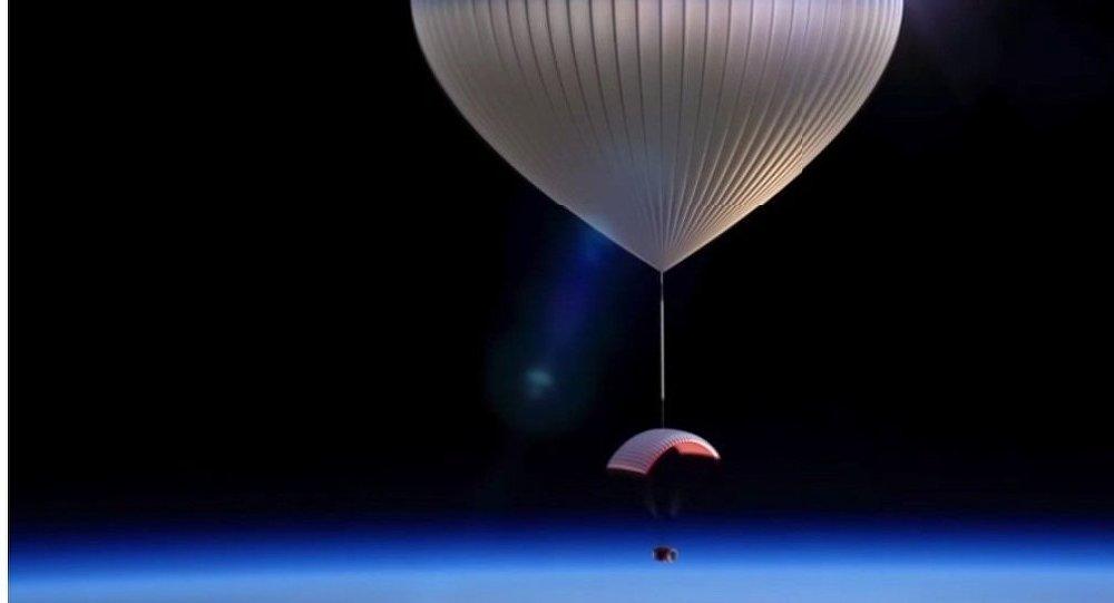 Une capsule spéciale transportée par un aérostat