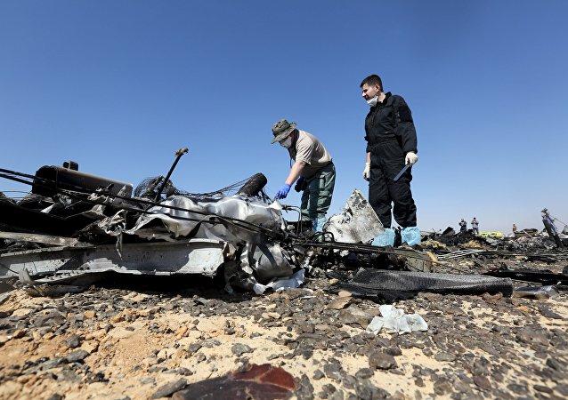 Des experts russes étudient les débris de l'Airbus A321 en Egypte
