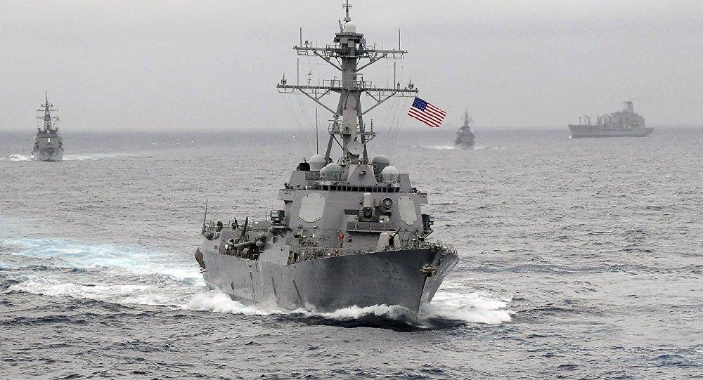 Un destroyer américain. Image d'illustration