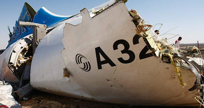 des débris de l`avion A321