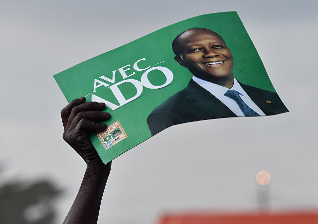 Un partisan du président Alassane Ouattara Côte-d'Ivoire