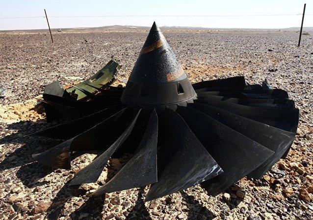 Le site du crash de l'Airbus A321 russe en Egypte