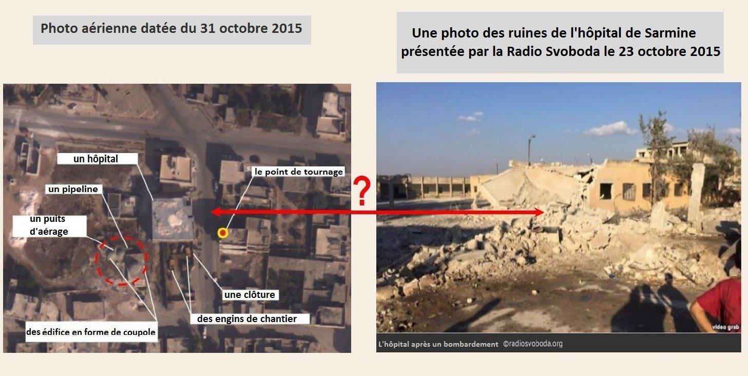 Photos de l'hôpital syrien de Sarmine