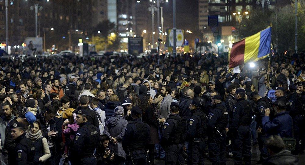 Manifestation à Bucarest