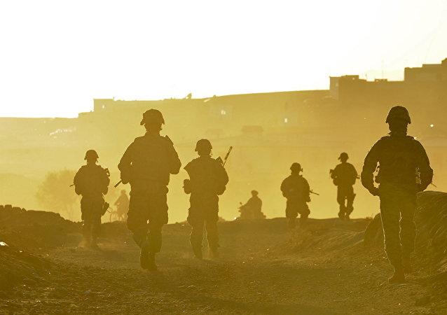 Les militaires américains en ville