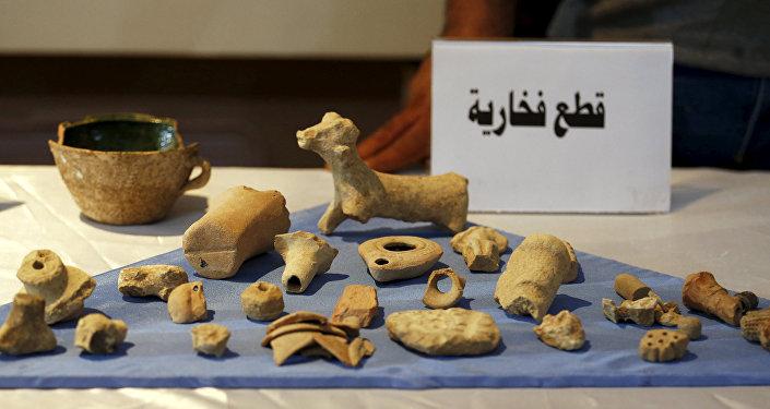 artefacts provenant des villes antiques syriennes