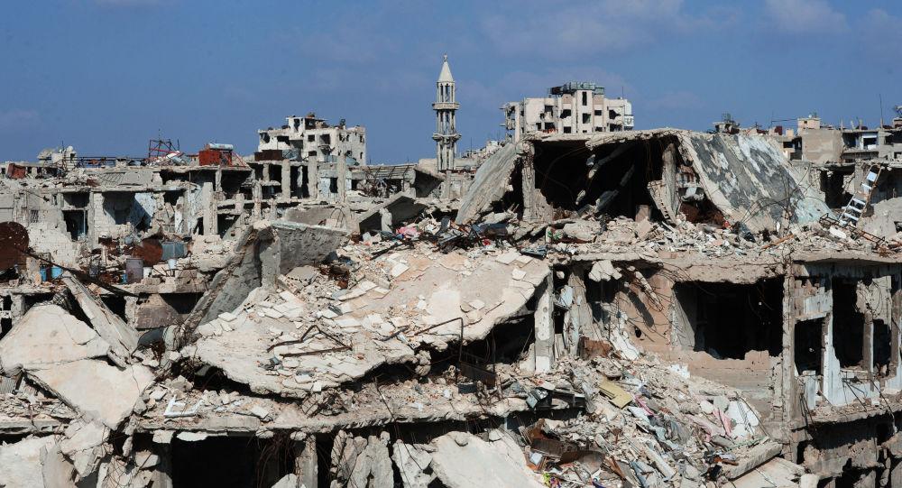 Destructions en Syrie. Homs.