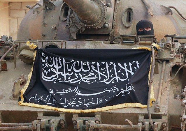 Drapeau du Front al-Nosra, Syrie