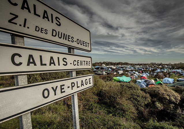 le camp de migrants «jungle» à Calais