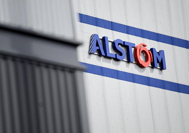 Le logo d'Alstom