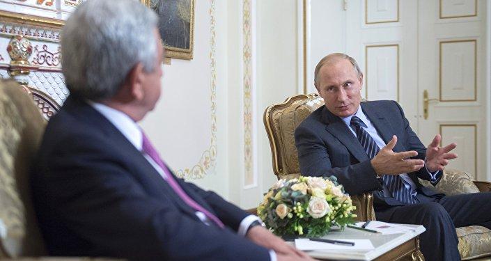 président russe Vladimir Poutine et président de l'Arménie Serge Sarkissian