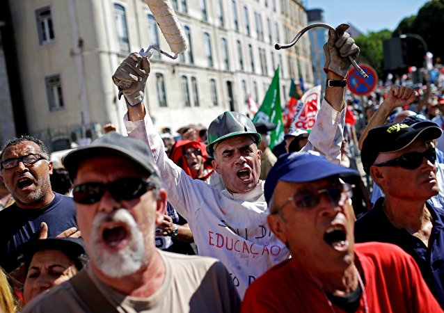Manifestation au Portugal