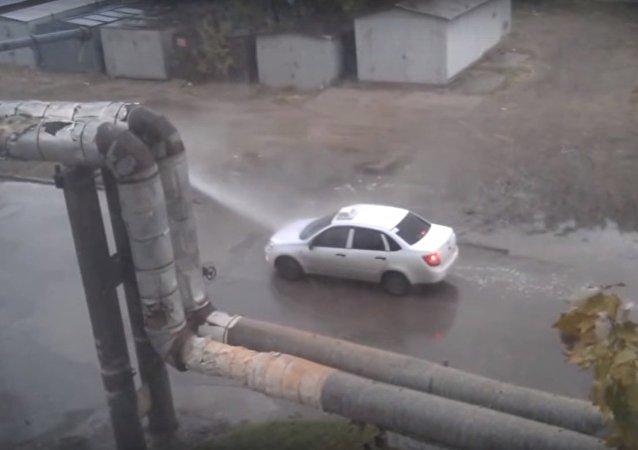 Lavage auto gratuite à la russe