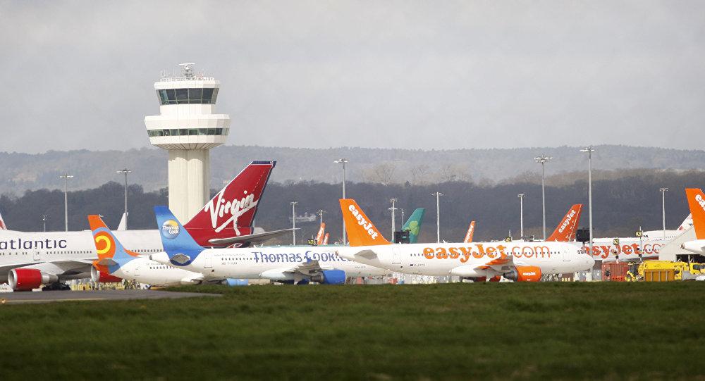 Le trafic aérien bloqué à Gatwick — Londres