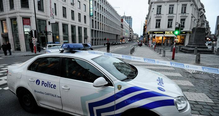 Une voiture de police à Bruxelles