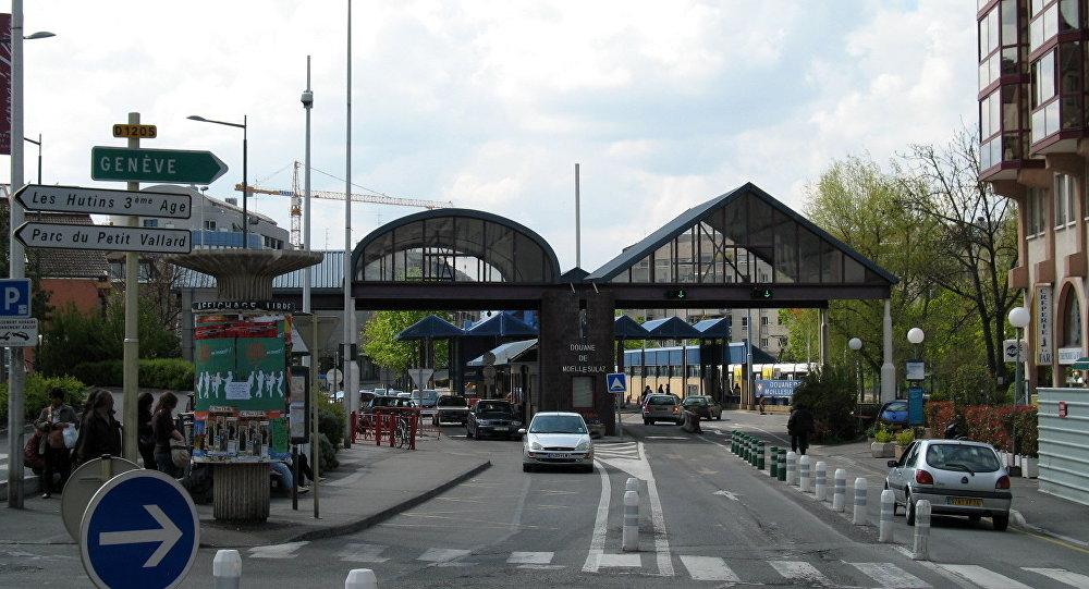 Douane de Moellesulaz vue de la France
