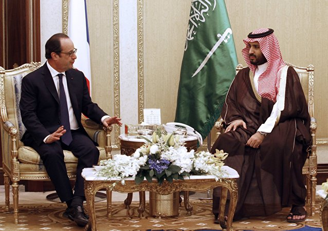 François Hollande et Mohammed ben Salmane Al Saoud. Archive photo