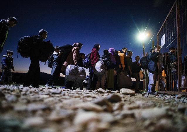 Migrants à la frontière gréco-macédonienne