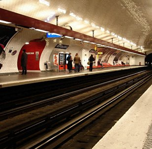 Métro de Paris (France) - ligne 11 - Station République. Archive photo