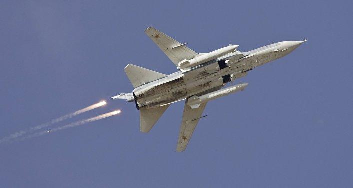 Un bombardier russe Sukhoi Su-24