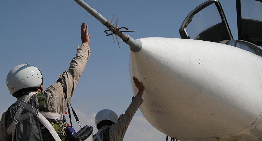Le groupe aérien russe déployé à la base syrienne de Hmeimim