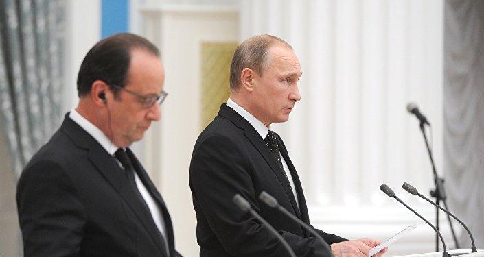 Poutine et Hollande prônent une large coalition contre l'Etat islamique