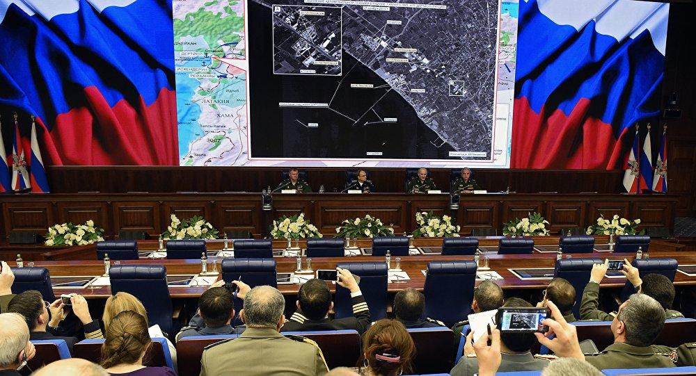 La conférence de presse du ministère de la Défense russe, Moscou, Dec. 2, 2015.
