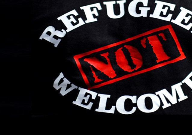 Une affiche contre l'immigration