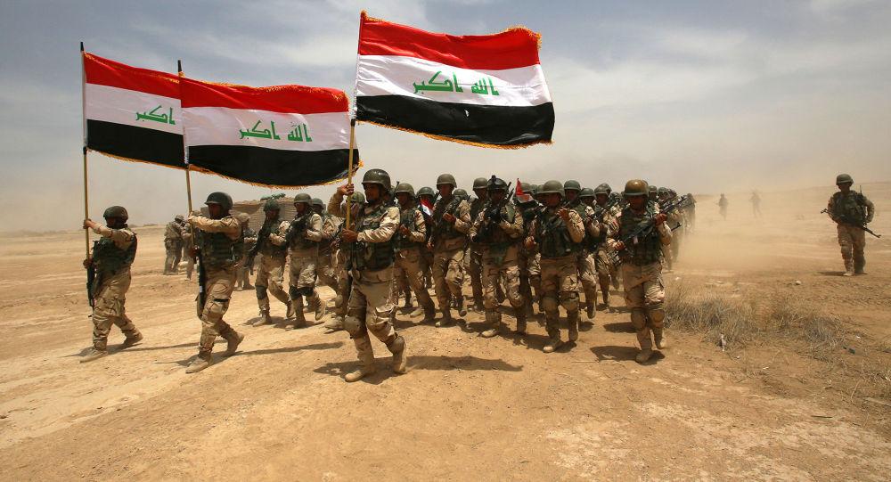 Exercices des militaires irakiens