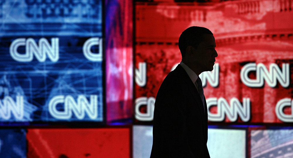 Barack Obama, CNN logo