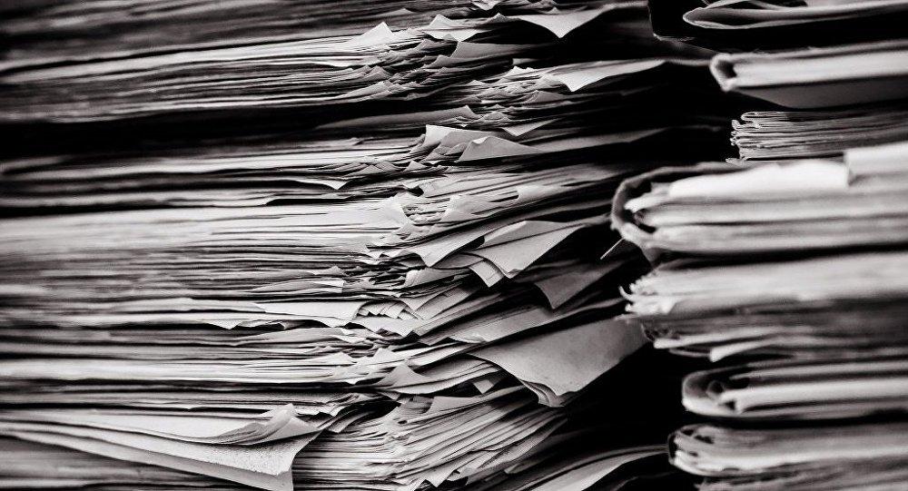 Une pile de documents