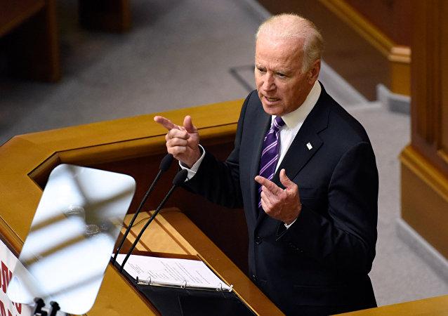 Le vice-président américain Joe Biden intervient devant le parlement ukrainien