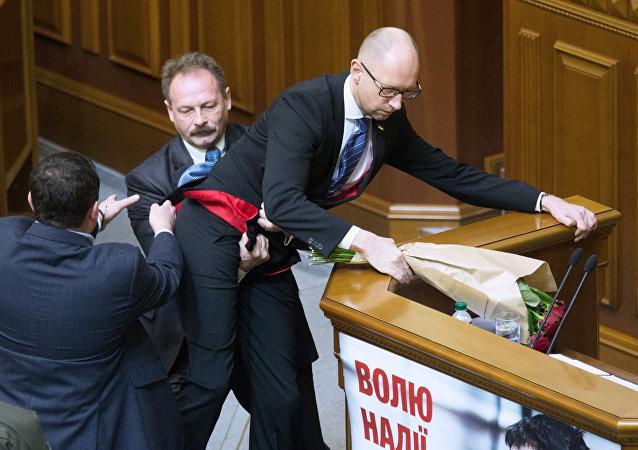 Premier ministre de l'Ukraine Arseni Iatseniouk