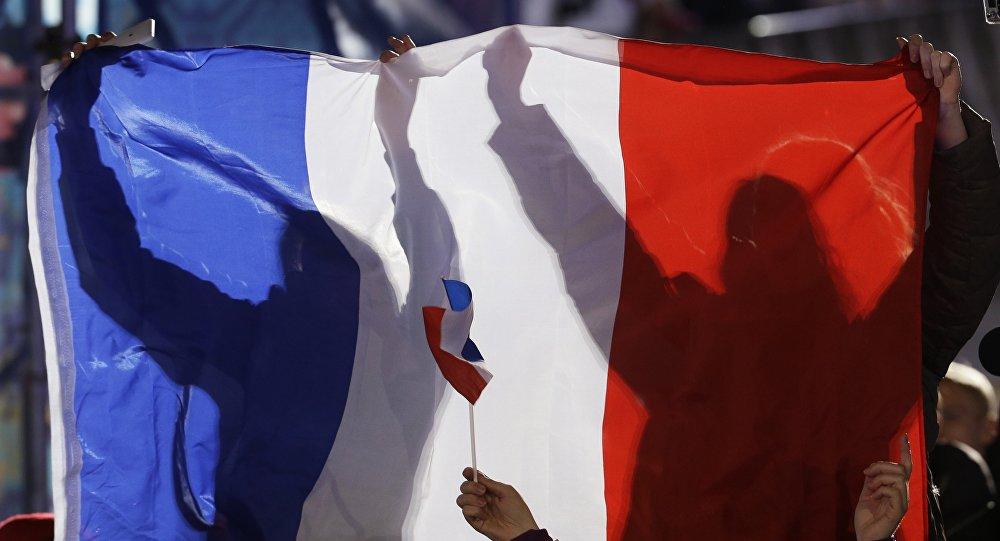 Drapeau de la France. Image d'illustration
