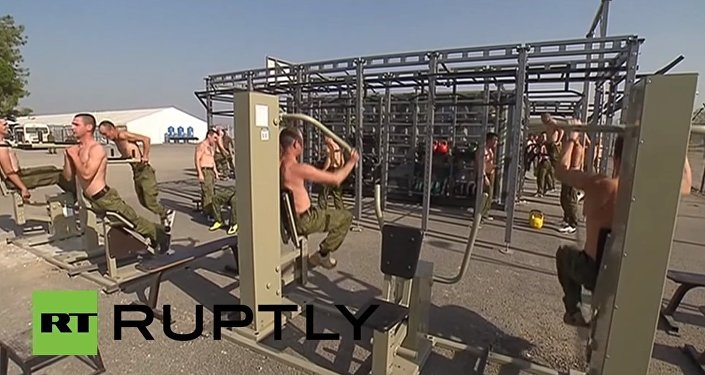 Syria: See Hmeymim air base's new canteen, gym and recreation centre