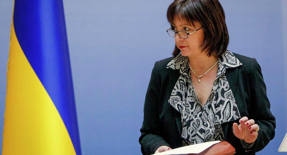 La ministre ukrainienne des Finances Natalie Jaresko