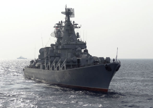 Navire de guerre russe en Méditerranée