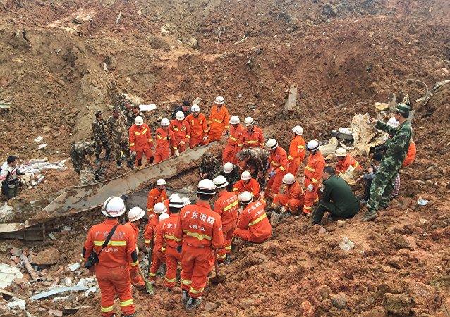 Glissement de terrain en Chine