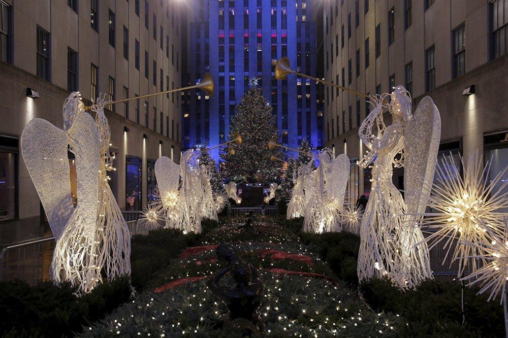 Le monde en prévision de Noël et du Nouvel an