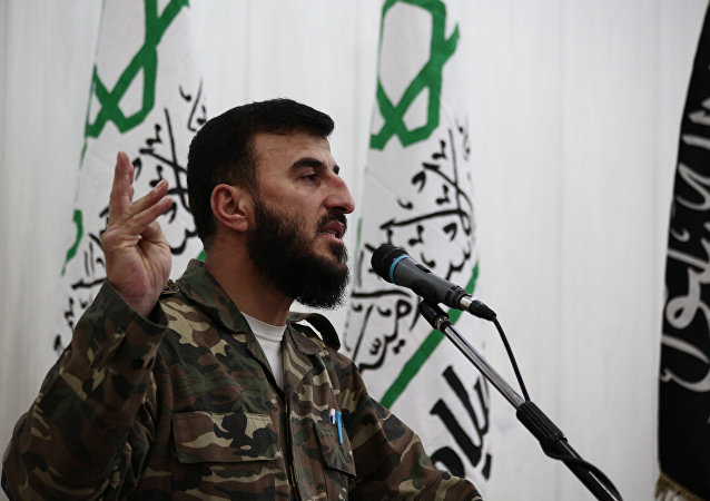 Zahran Alloush, the leader of Jaysh al-Islam (Islam Army)