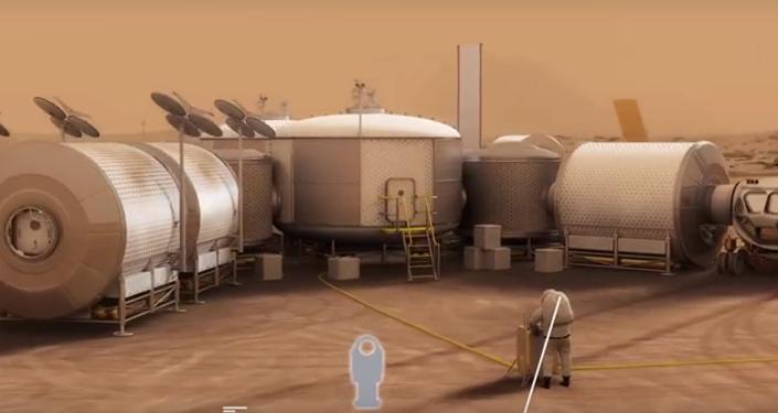 Maquette de la base martienne