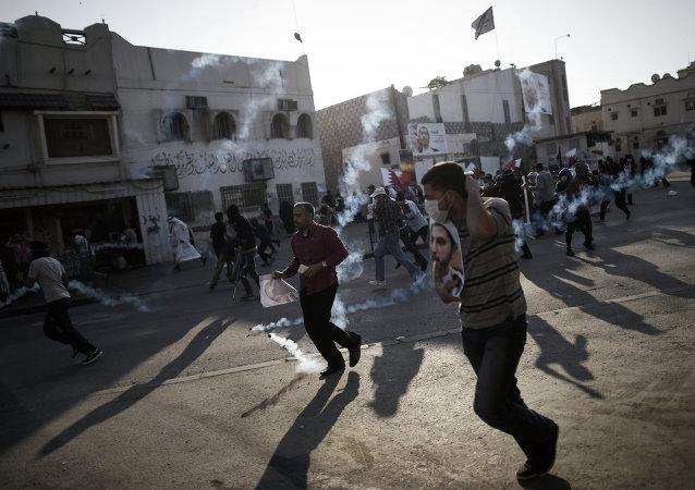 Des manifestants au Bahreïn
