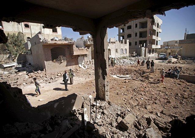Yémen après bombardements