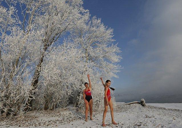 Vous avez froid? Bienvenue à un club de natation en Sibérie!