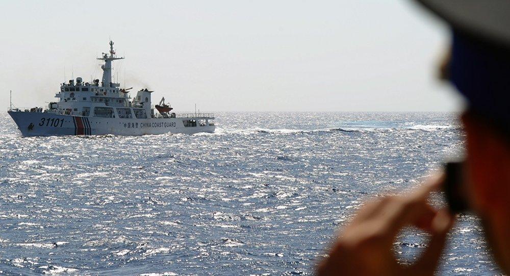 Vedette de patrouille de la Garde côtière chinoise. Image d'illustration